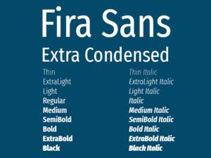 Fira Sans Extra Condensed