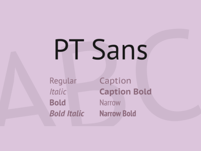 PT Sans