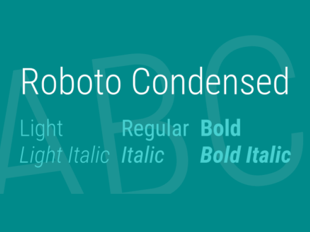 Roboto Condensed