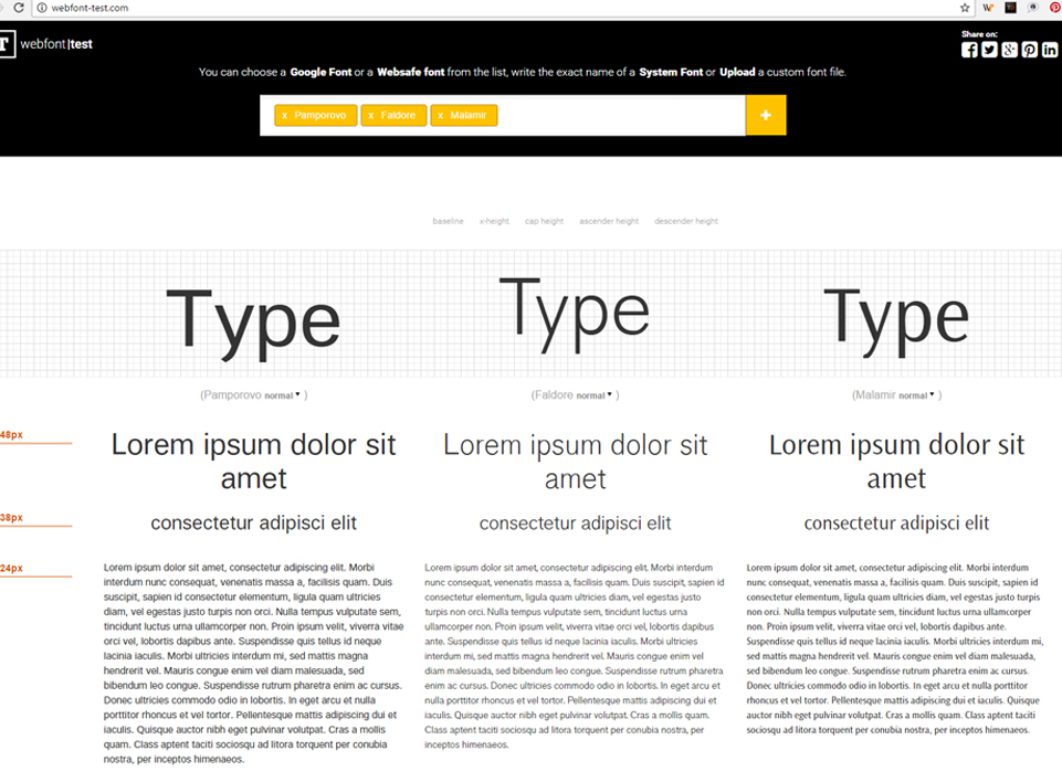 Online Font Testing Tools | Local Fonts