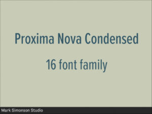 Proxima Nova Condensed