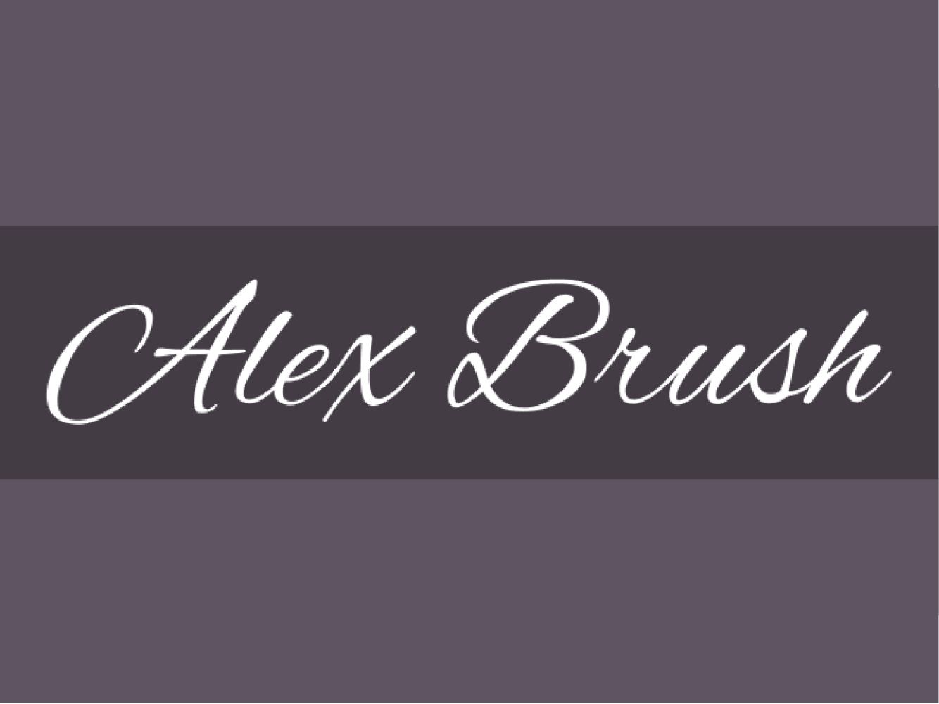 Alex Brush Regular