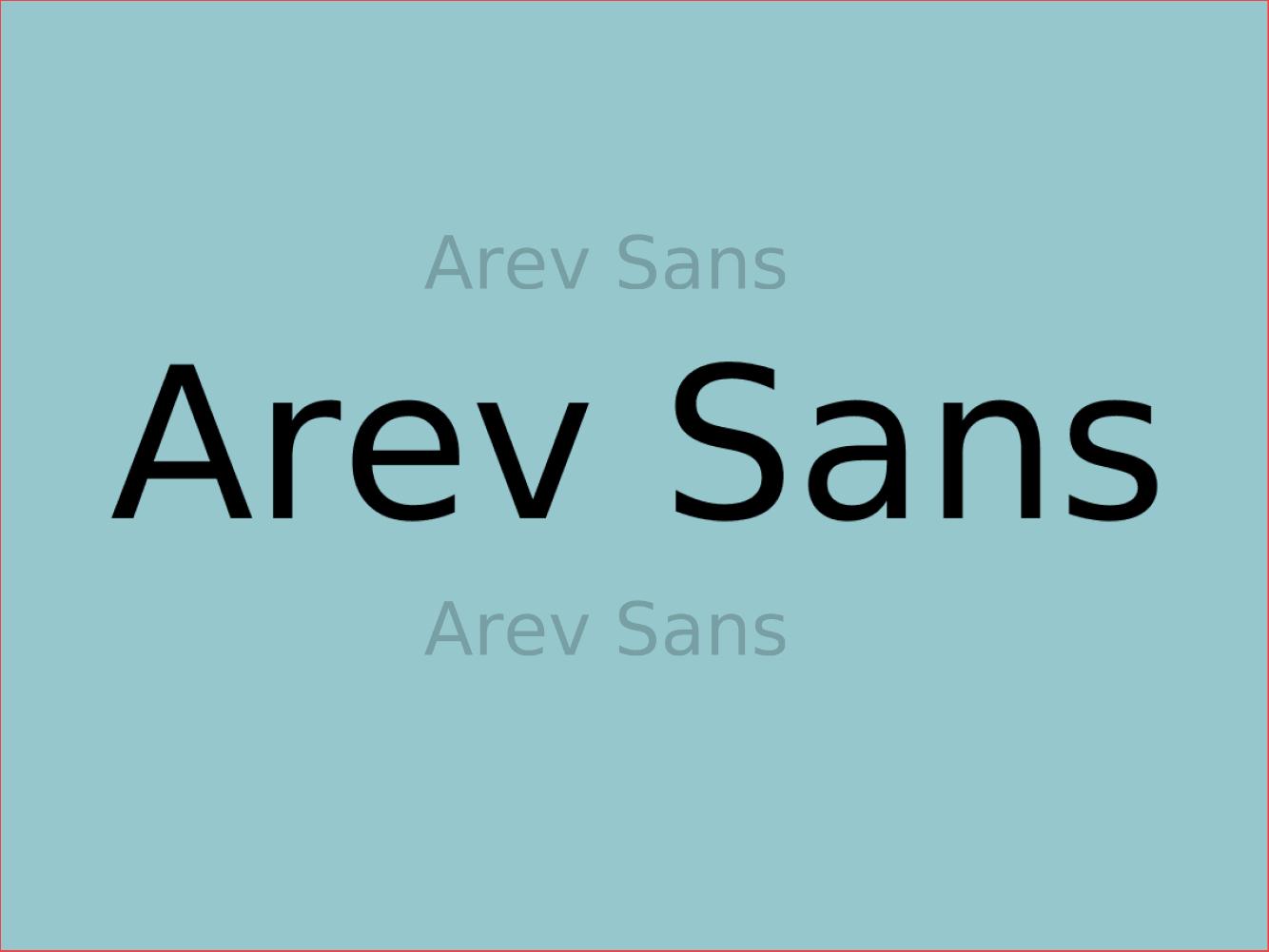Arev Sans
