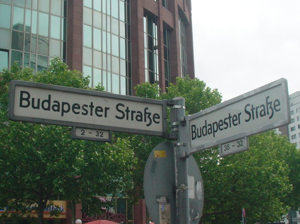Antiqua form of the ſz ligature (Berlin street signs)