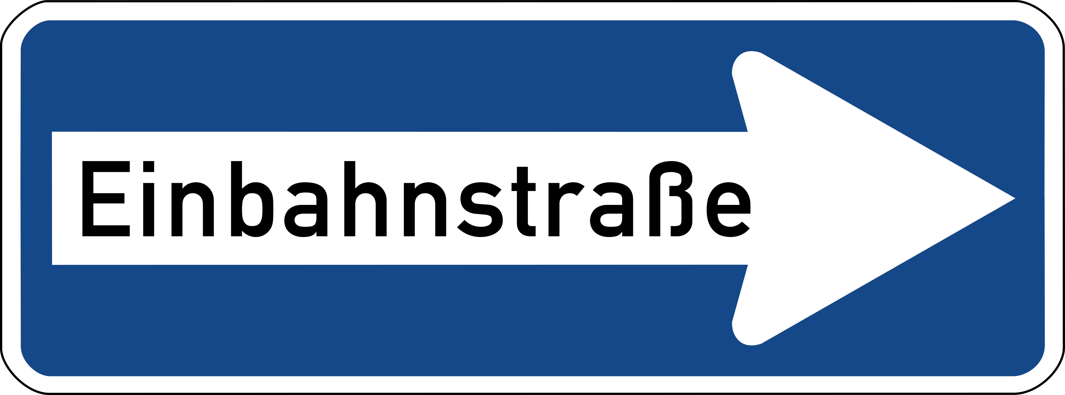 "Sulzbacher Form in the German Einbahnstraße (""one way street"") sign"