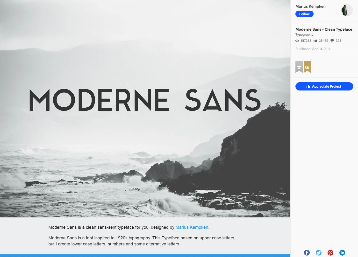 Moderne Sans - Clean Typeface on Behance