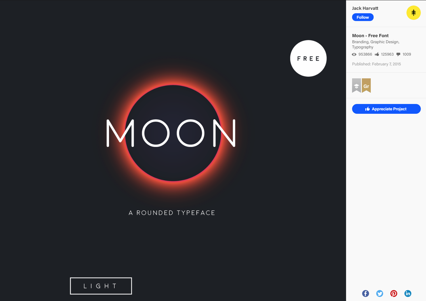 Moon - Free Font on Behance