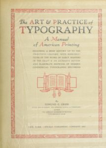 The art & practice of typography by Edmund G. Gress