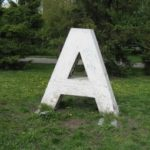 Monument of the Cyrillic Letter A