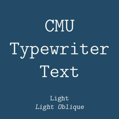 CMU Typewriter Text Light
