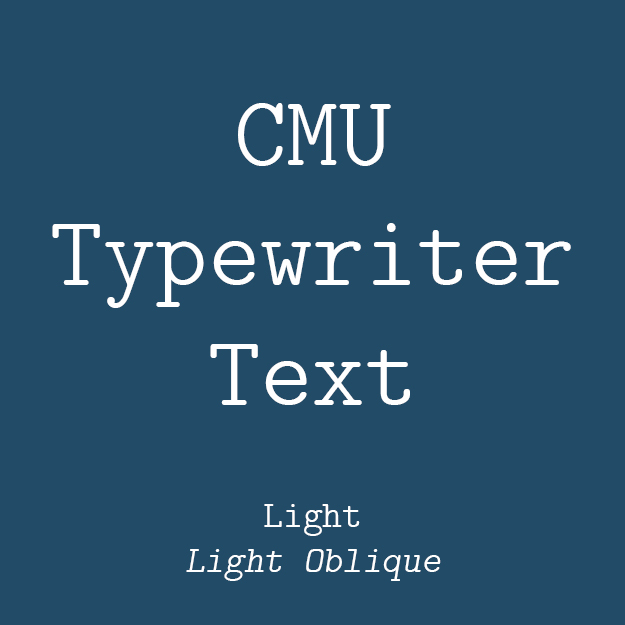 CMU Typewriter Text Light