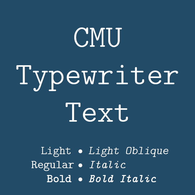 CMU Typewriter Text