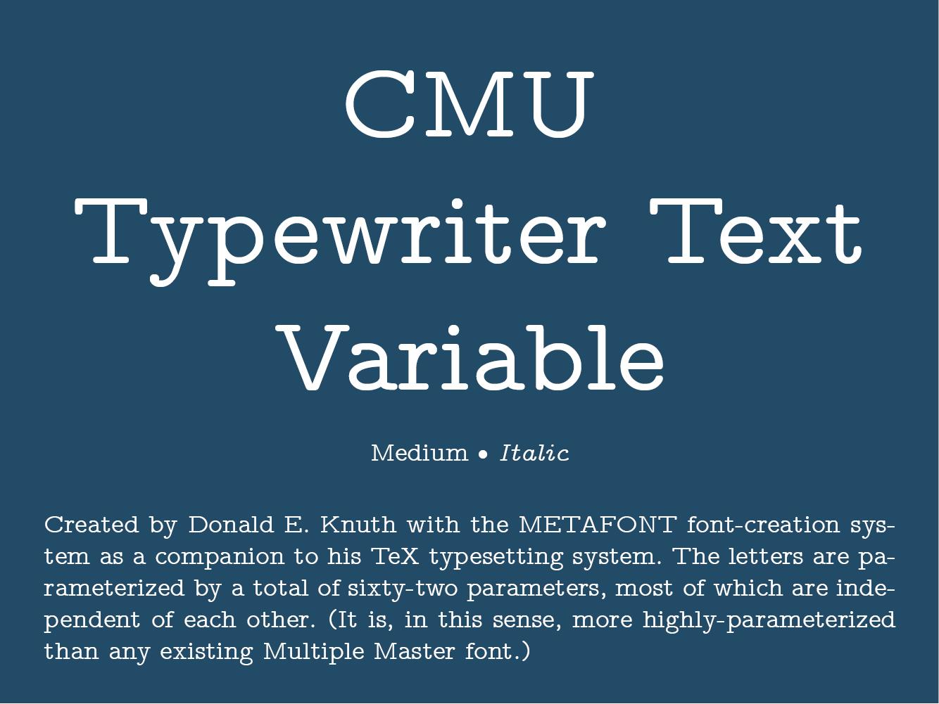 CMU Typewriter Text Variable