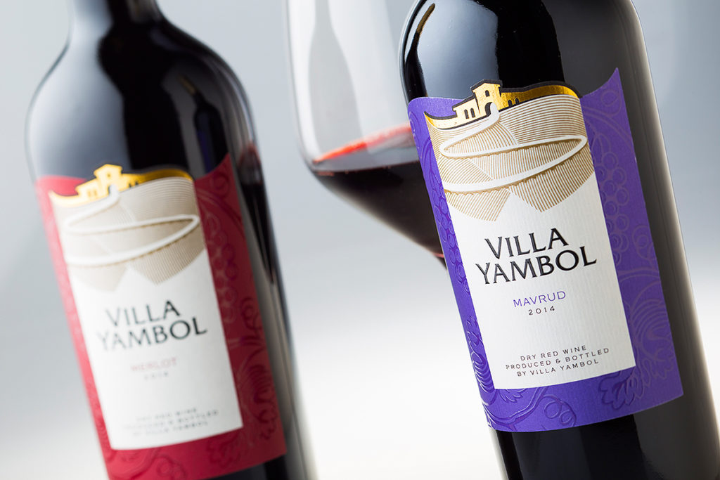 Villa Yambol wine labels by the Labelmaker