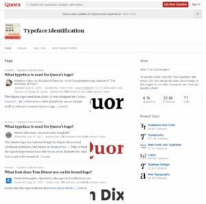 Quora Typeface Identification