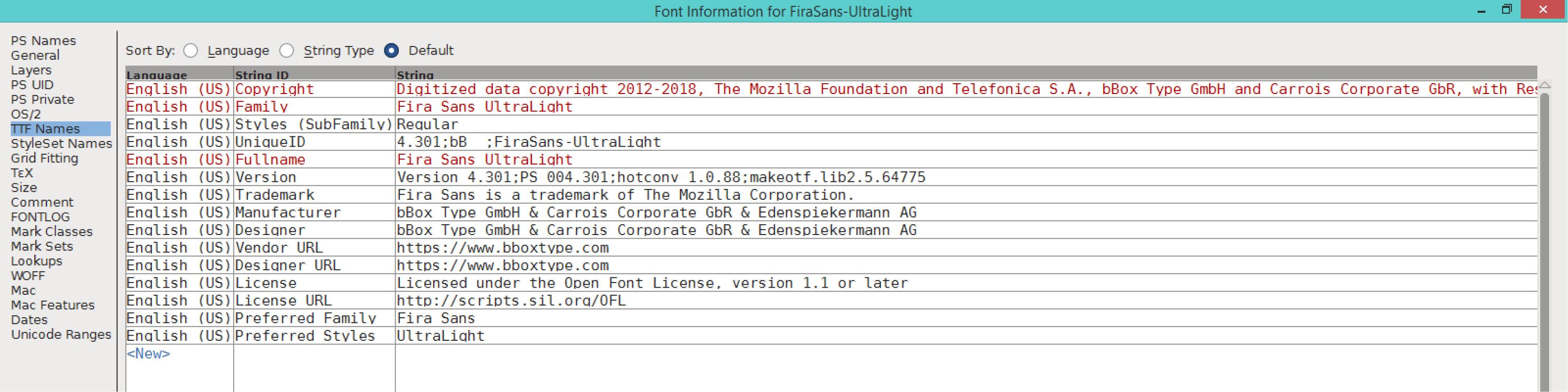 Fira Sans UltraLight (TTF)