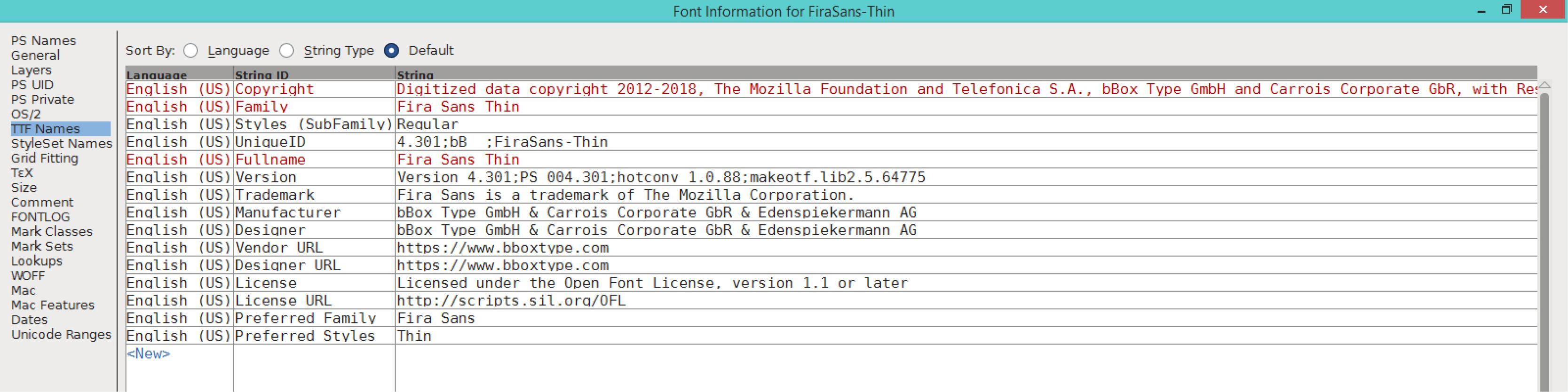 Fira Sans Thin (TTF)