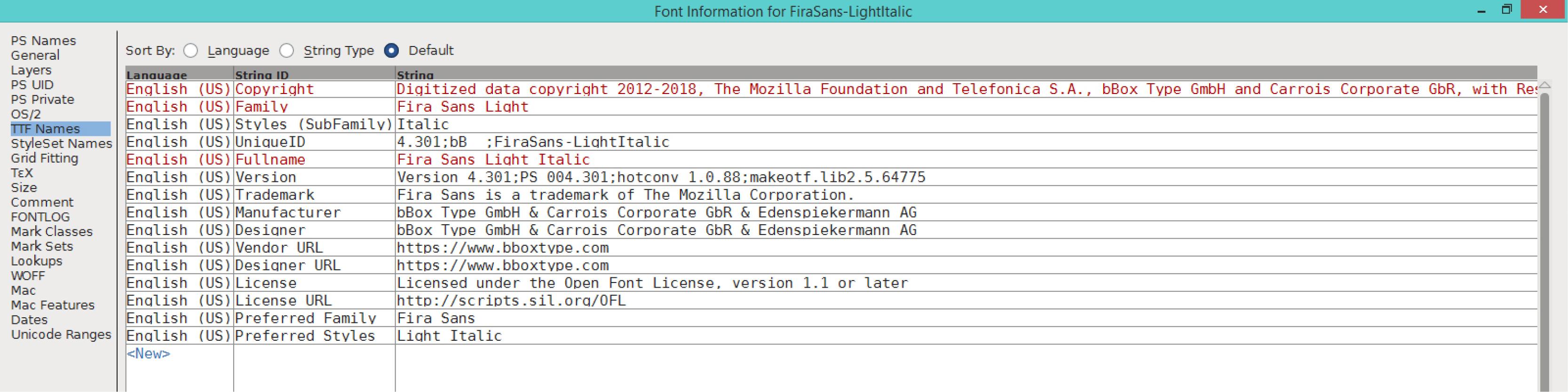 Fira Sans Light Italic (TTF)