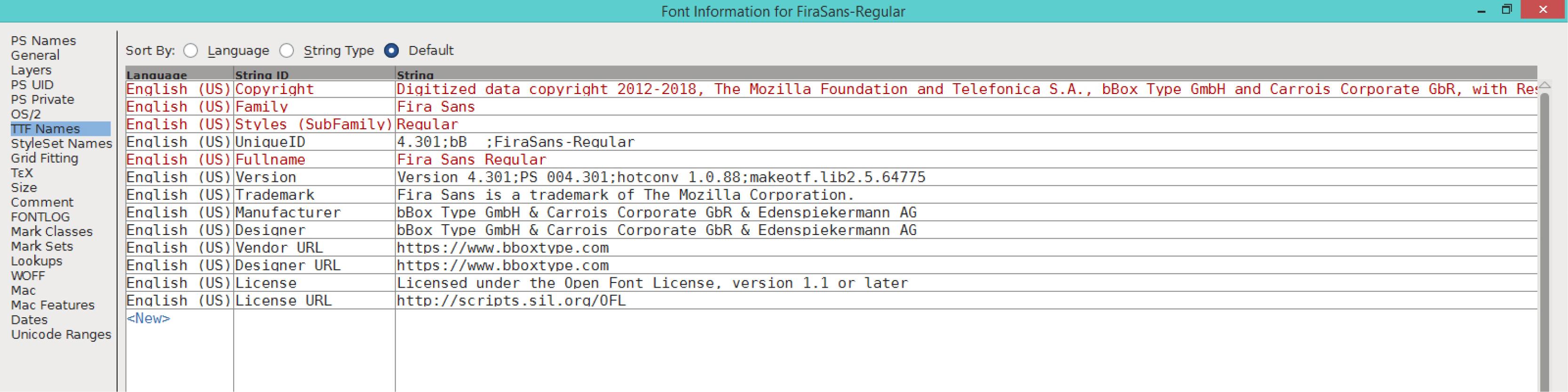 Fira Sans Regular (TTF)