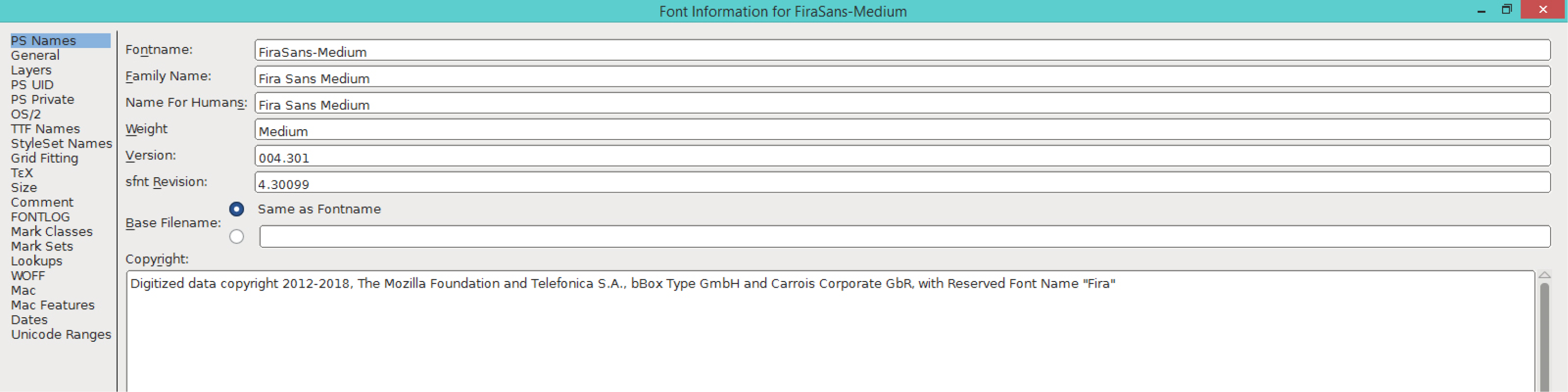 Fira Sans Medium (PS)