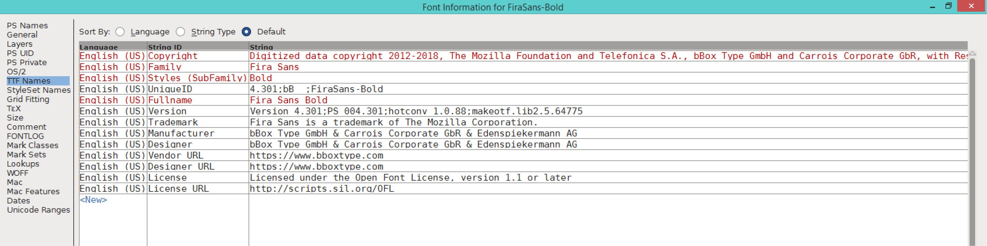 Fira Sans Bold (TTF)