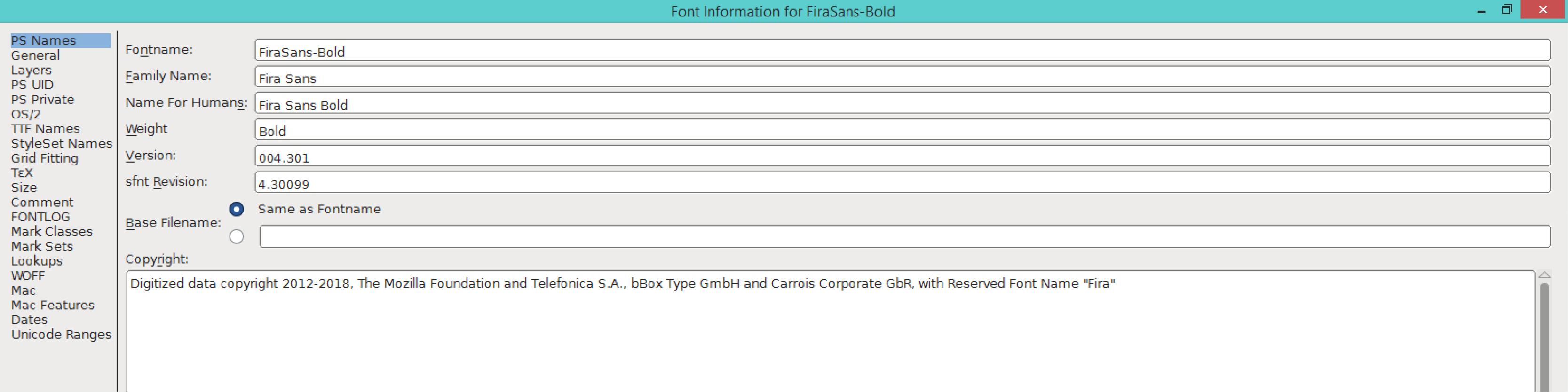 Fira Sans Bold (PS)