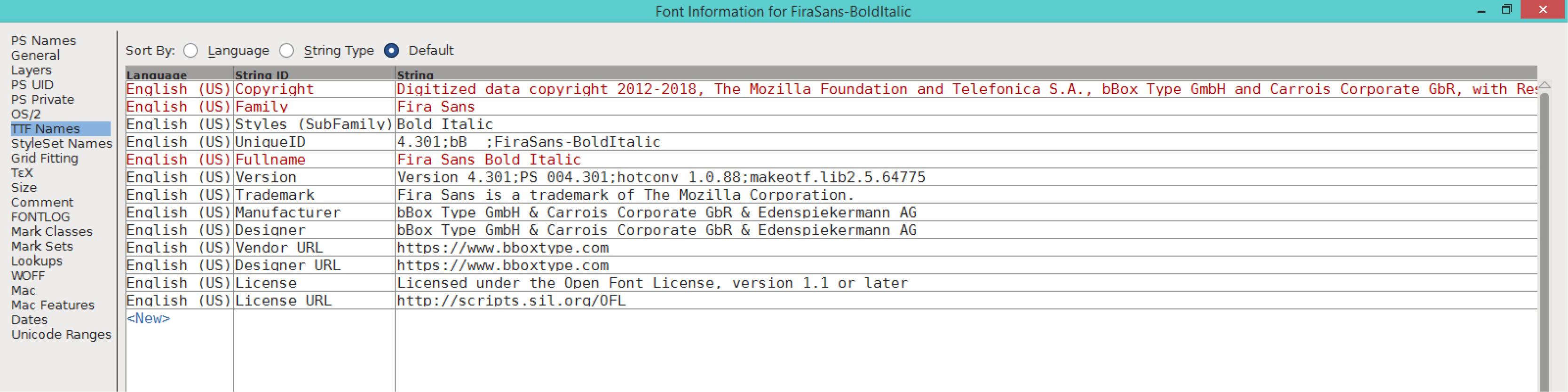 Fira Sans Bold Italic (TTF)
