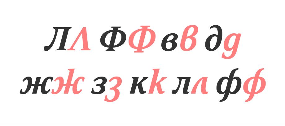 Cyrillic italic