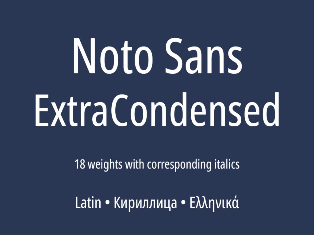 Noto Sans ExtraCondensed