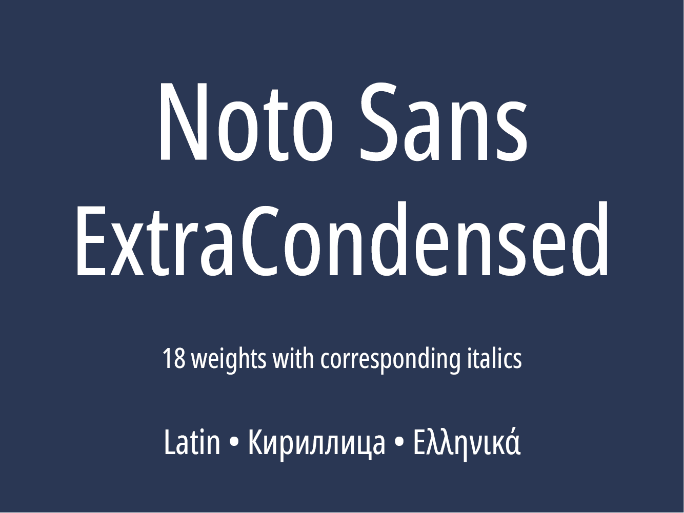 Noto Sans ExtraCondensed