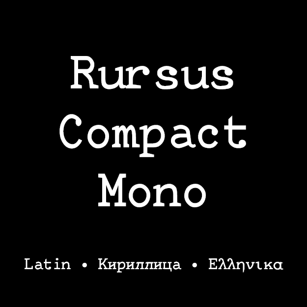 Typewriter Cyrillic and Latin Typefaces | Local Fonts