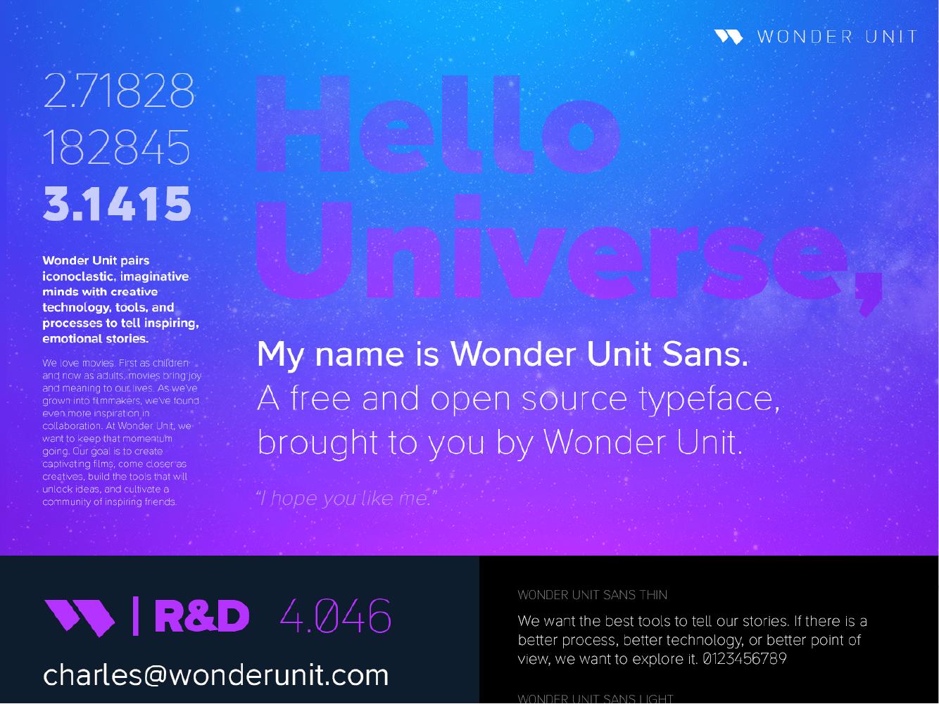 Wonder Unit Sans