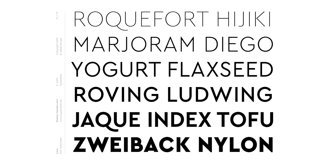 Cera Pro by Jakob Runge | Local Fonts