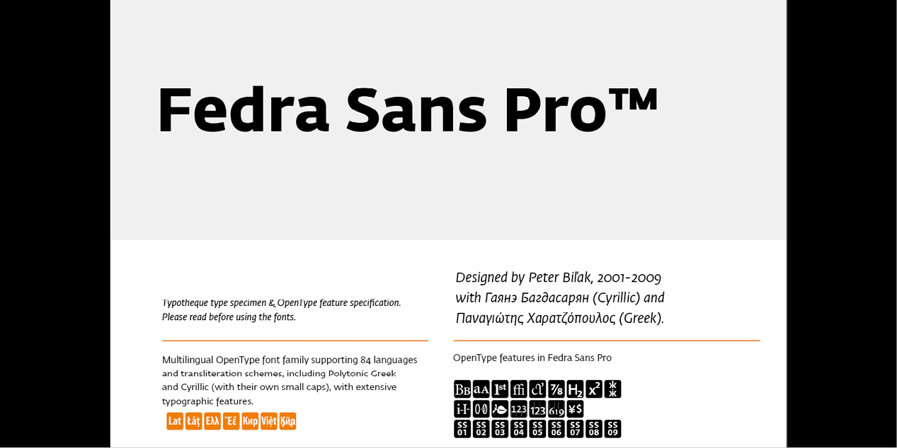 Fedra Sans by Typotheque | Local Fonts