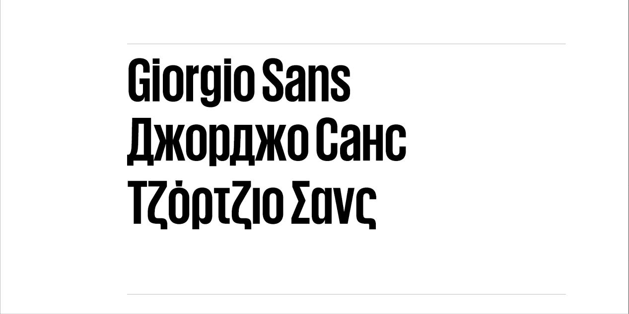 Giorgio Sans | Local Fonts