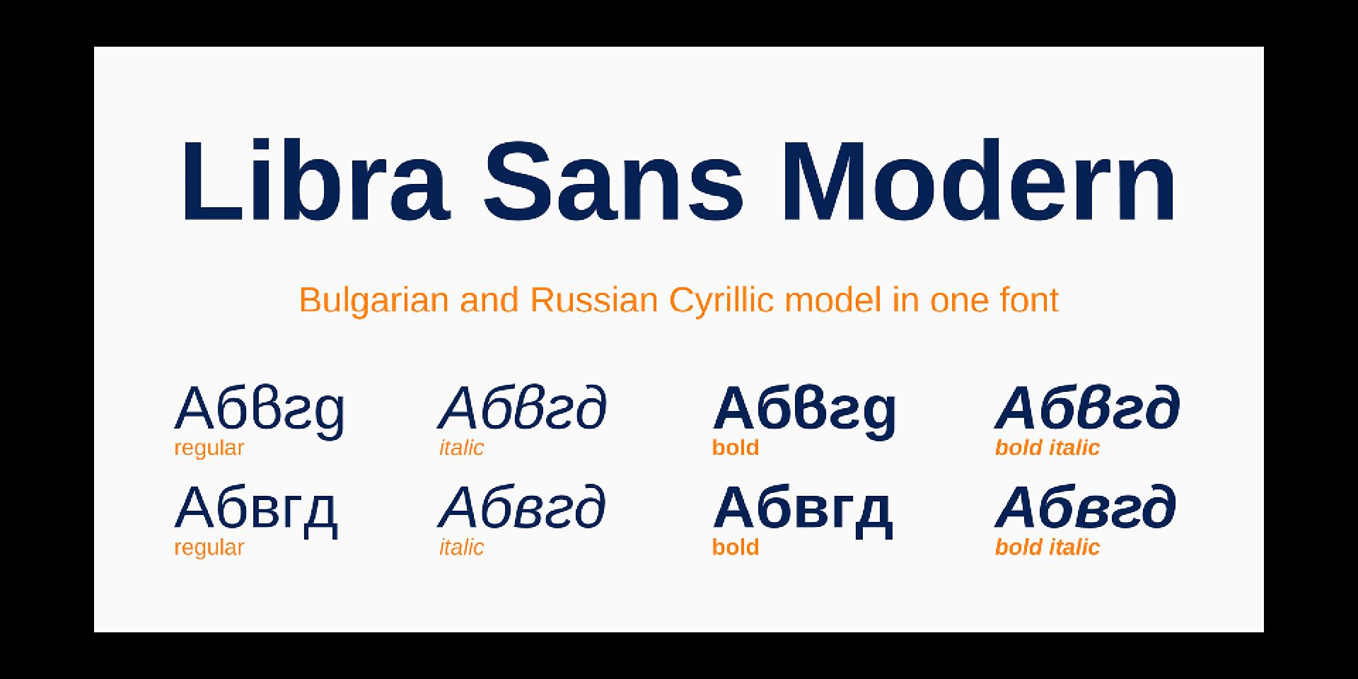 Libra Sans Modern