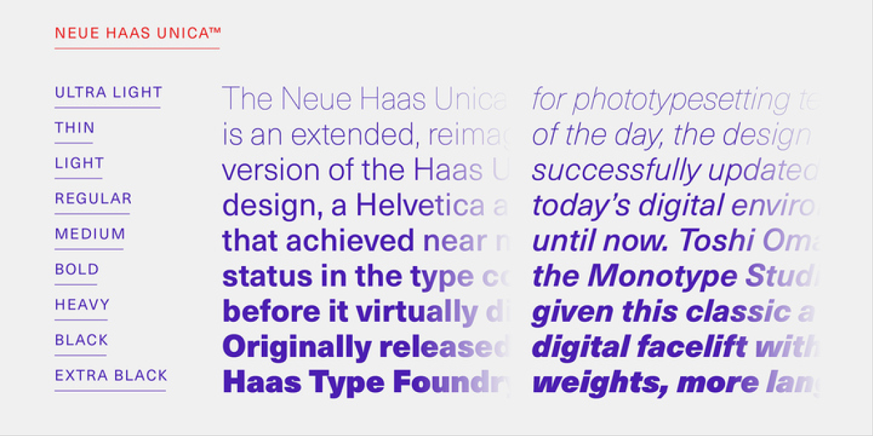Neue Haas Unica
