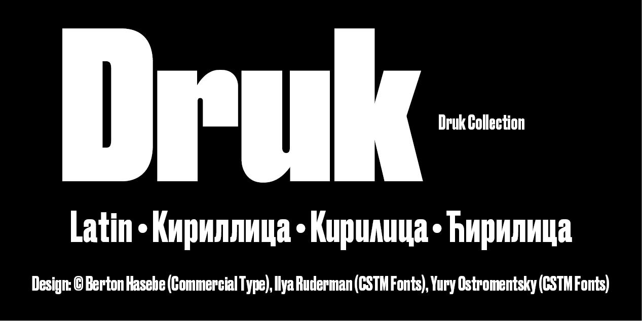 Druk by Berton Hasebe, Commercial Type, Ilya Ruderman, Yury