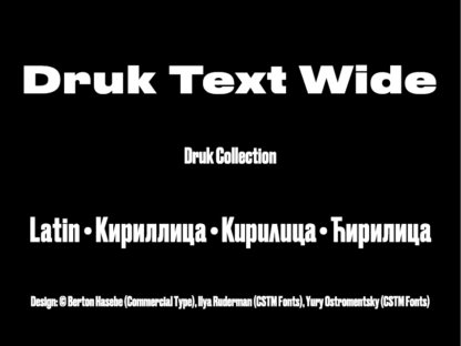 Druk Text Wide