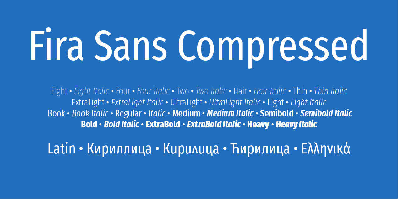 Fira Sans Compressed
