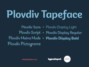 Plovdiv Typeface