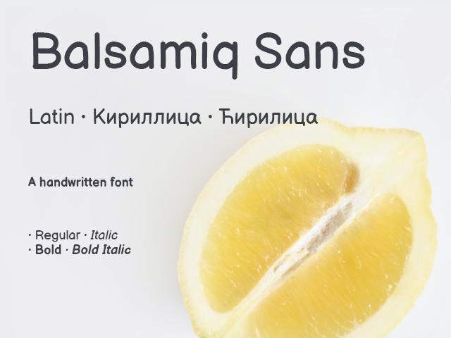 Balsamiq Sans