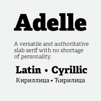 Adelle Cyrillic