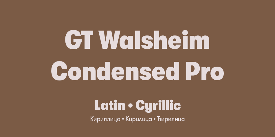GT Walsheim Condensed Pro