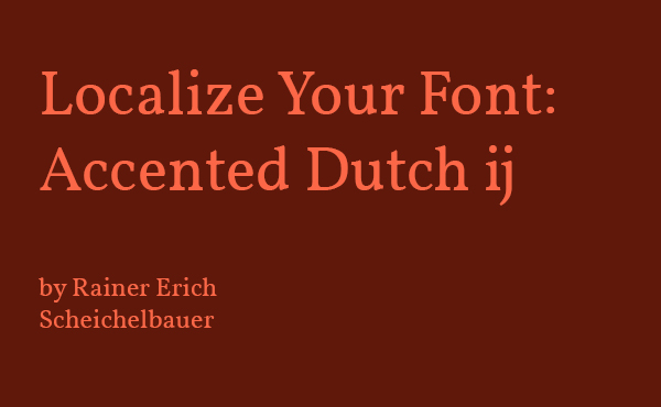 Accented Dutch ij
