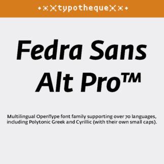 Fedra Sans Alt Pro