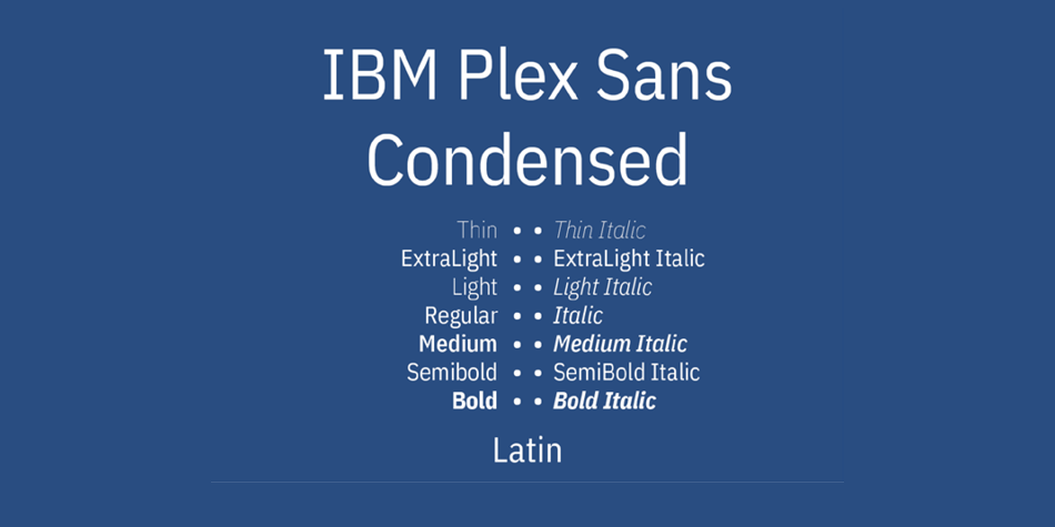 IBM Plex Sans Condensed